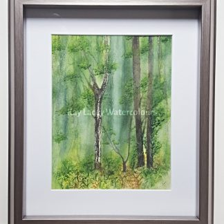 Woodland Watercolour framed painting