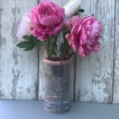 pink-felt-vase-cover-up-cycled