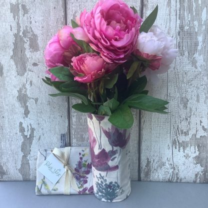 pink-floral-fabric-vase-cover
