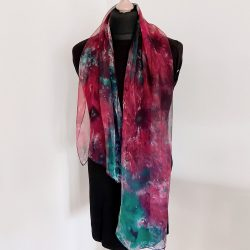 Poppies-Hand-Painted-Chiffon-Scarf