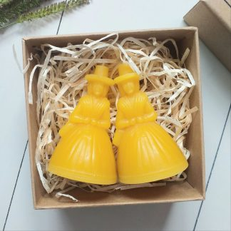 Welsh Lady Beeswax Candle Gift Set