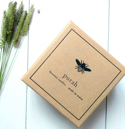 Two Welsh lady candles come in this luxury eco gift box. It's made from recycled paper and biodegradable ink.
