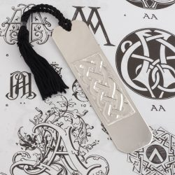 sterling silver hand engraved celtic knot bookmark