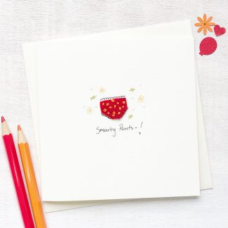 Handmade, personalised smarty pants congratulations card