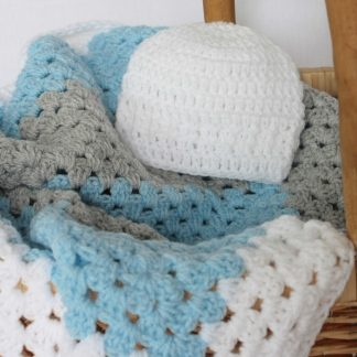 Granny Square Blanket and Hat