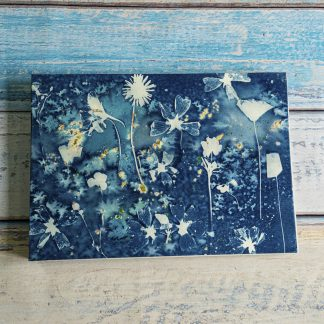 Hand Bound A4 Photograph Album with Original Wet Cyanotype Print Covers … A Summer Meadow … Because Your Memories Are Worth It