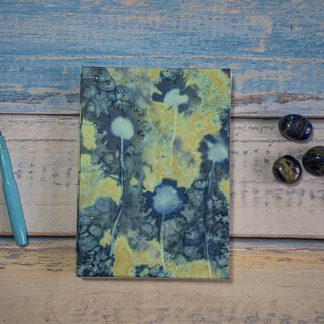 Hand Bound Journal with Original Wet Cyanotype Print Covers … Ox-Eye Daisies in a Golden Sea … Because Your Words Are Worth It