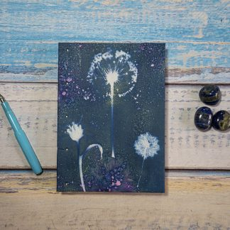 Hand Bound Journal with Original Wet Cyanotype Print Covers - All Sorts of Purple Flowers - Because Your Words Are Worth It