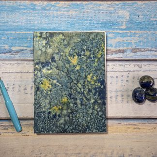 Hand Bound Journal with Original Wet Cyanotype Print Covers - Umbelliferae and Golden Sparkles on Repurposed Pages - Because Your Words Are Worth It