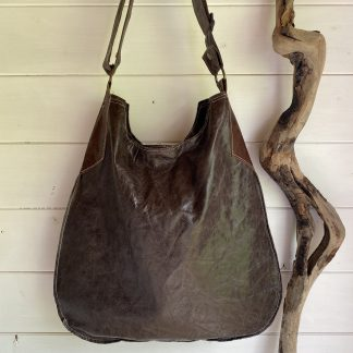Leather Slouch bag Chocolate Brown