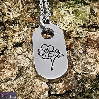 Forget Me Not Pewter Necklace by Love & Stardust