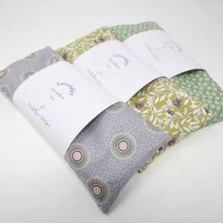 Handmade relaxing lavender and flax filled eye pillows