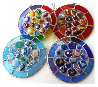 nugget ring stained glass suncatcher