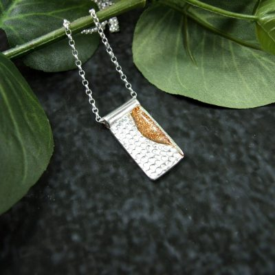 Silver and Golden Sands Pendant necklace