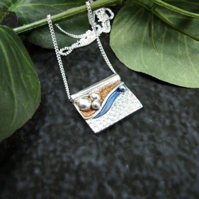Sea and Golden Sands Pendant Necklace