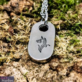 Little Snowdrop Pewter Necklace by Love & Stardust