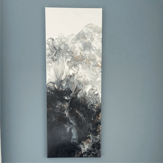 acrylic pour abstract wall art