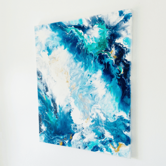 abstract acrylic pour wall art canvas