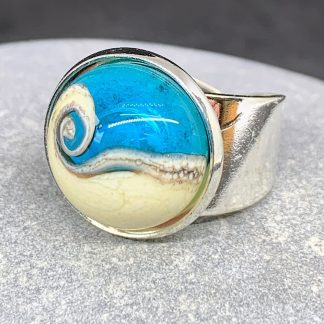 glass wave ring