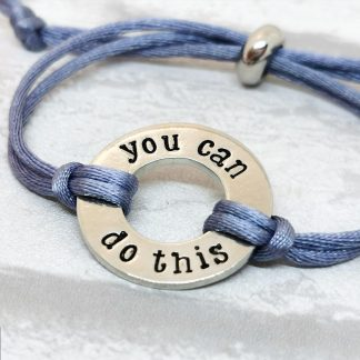 You can do this bracelet hand stamped pewter
