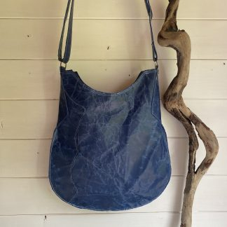 Blue Leather Slouch bag