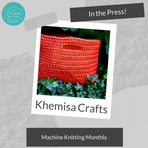 Khemisa Crafts featured in Machine Knitting Monthly