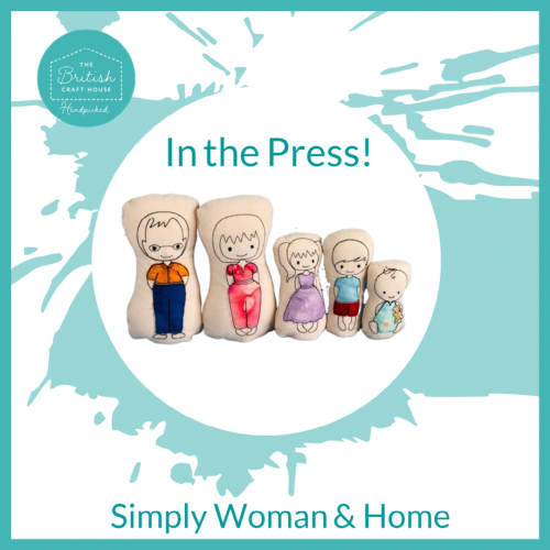 Cariad in Stitches featured in Simply Woman & Home