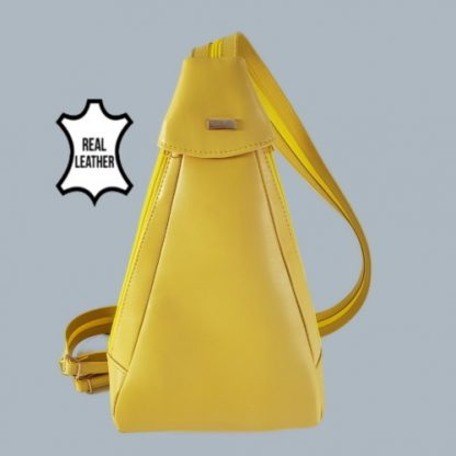 Yellow backpack front view