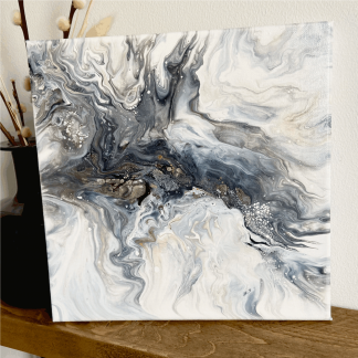 abstract wall painting with a storm theme
