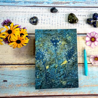 Umbelliferae and Golden Ink B5 Journal Front Cover Original Cyanotype Print