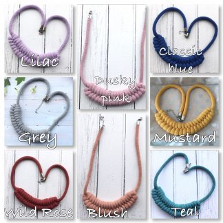 Chunky textile necklace