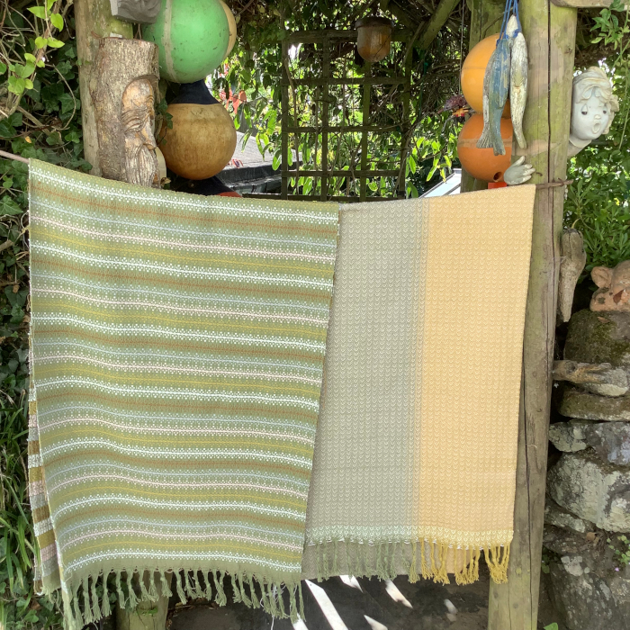 Handwoven Cloth over a gate