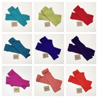 The Tulip House Cashmere fingerless gloves bright colours