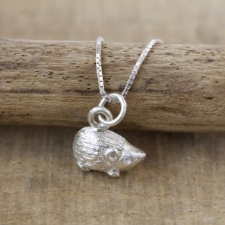 Handcrafted Small flat back Hedgehog with sterling silver jump ring