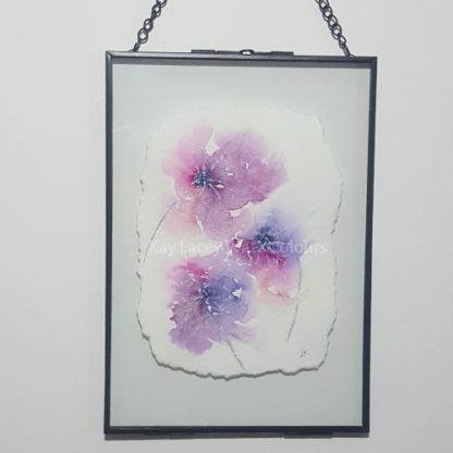 Abstract floral Watercolour painting