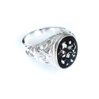 embossed mens cremation ring