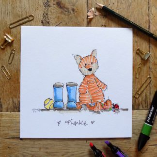 Personalised childrens illustration wall art gift