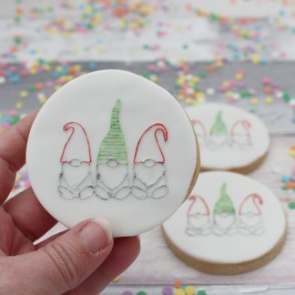 embossed gnome cookie set
