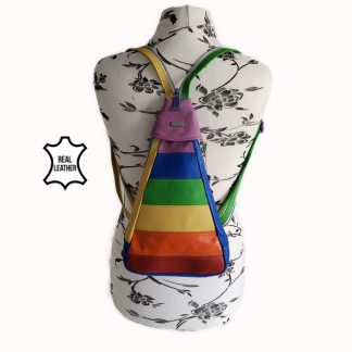Rainbow-multi-colour-backpack-sling-convertible-backpack-style-mannequin